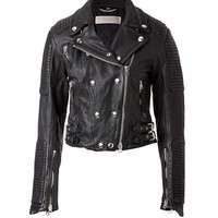 Burberry Brit - Cropped Leather Motorcycle Jacket