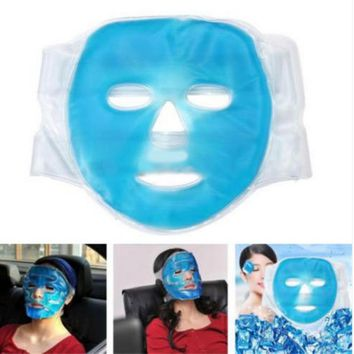 New Fashion Gel Hot Ice Pack Cooling Face Mask Pain Headache Relief Chillow Pillow Relaxing Face Massage