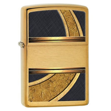 Zippo Gold And Black Lighter 28673