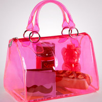 Neon Pink See-Through Duffel