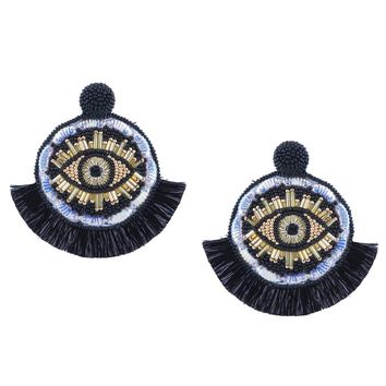 Havana Eye Earrings in Black