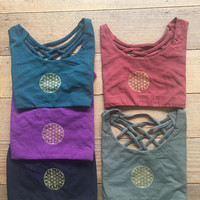 SALE! 20% OFF!  Last Day! -  Yoga Top - Crop Top - Flower of Life