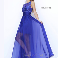 Illusion High Neckline Formal Prom Gown By Sherri Hill 1940