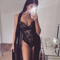 Kourtney Lace Bodysuit