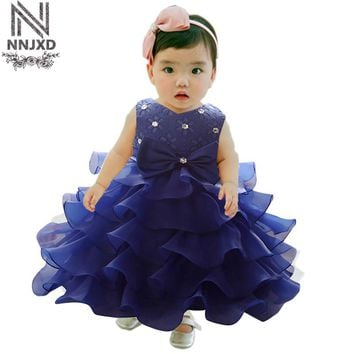 Baby Girl 1 Year Birthday Dress For Newborn Infant Girls Dinner Dress Formal Wear For 3 6 9 12 18 24 Months Baby Girls Vestidos