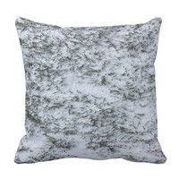 Snowy Grass Throw Pillow
