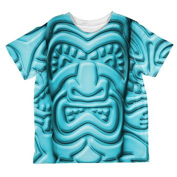 Tiki God Blue Face Luau All Over Toddler T Shirt