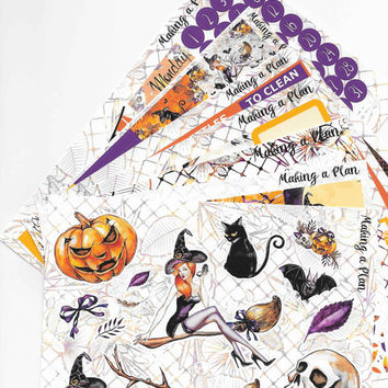 Haunting Halloween Weekly  Vertical Kit Planner Stickers for use with ERIN CONDREN LIFEPLANNER
