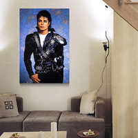 Picture Oil Painting Canvas Painting Famous Star  Michael Jackson Home Decaration For Living Room  Printing On Canvas(No Frame)