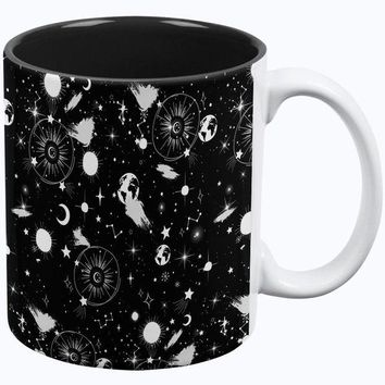 DCCK8UT Halloween Galaxy Astronomy Pattern All Over Coffee Mug