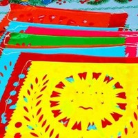 Mexican Papel Picado Banner, Mexican Party Decoration, Fiesta Banners