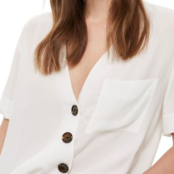 Topshop Asymmetrical Button Top | Nordstrom