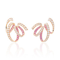 M'O Exclusive: Ribbon Earrings With Diamonds And Sapphires | Moda Operandi