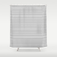 Minimal Stripes Shower Curtain by Allyson Johnson