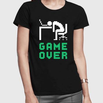 Game Over Half Sleeves Women T-shirt