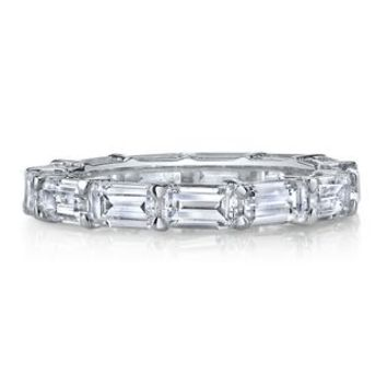 Diamonvita® 3 3/4 ct. tw. Simulated Diamond Eternity Band in Sterling Silver - Shop All Jewelry - Jewelry - Helzberg Diamonds
