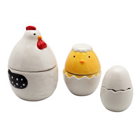 Hen House Ceramic Measuring Cup Set
