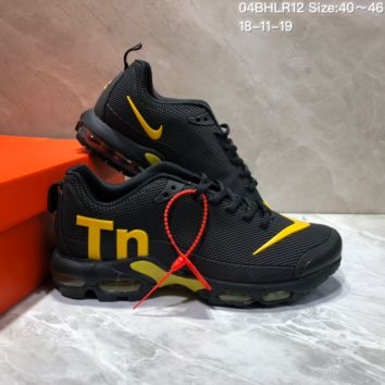 DCCK2 N640 Nike Air Max Plus TN Ultra Running Shoes Black Yellow