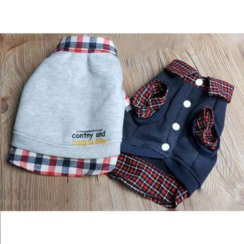 Jackets Grid Sweater Dog Clothes & Cat Clothes