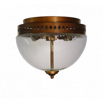 2 light euro retro rural dinning room bedroom creative round Julia clear glass shade ceiling lamp light