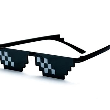 SojoS Deal With It Glasses Thug Life 8 Bit Style Pixel Unisex Sunglasses SJ2049