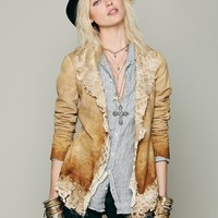 Free People Suede and Lace Jacket