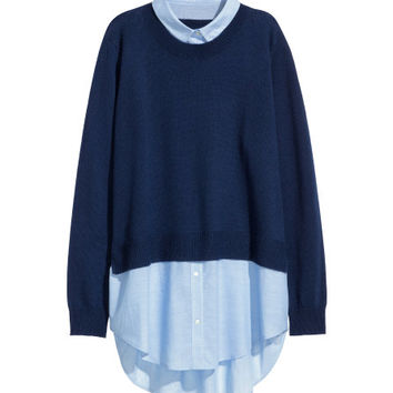 Sweater with Collar - from H&M