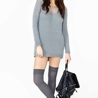Nasty Gal Forever Fallen Sweater - Gray
