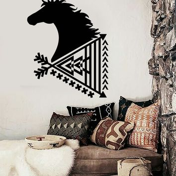 Vinyl Wall Decal Ethnic Style Arrow Room Decoration Horse Stickers Unique Gift (ig3722)