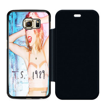 Taylor Swift Poster 1989 Cover Album Flip Case Samsung S6  Case