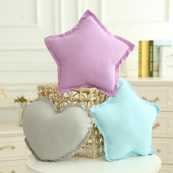 Creative Home Decoration Cushion Candy-colored Cotton Canvas Pillow Five-Pointed