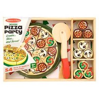 Melissa & Doug® Pizza Party Wooden Play Food Set With 18Toppings