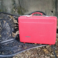 """Starflite 21"""" Hard Side Suitcase Red Overnight Case Molded Lining"""