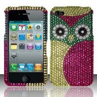 [The Three Knights] for Iphone 4/4s (At&t/verizon/sprint) Full Diamond Protectors - Owl FPD