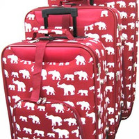 Alabama Elephant 3 Piece Luggage Set