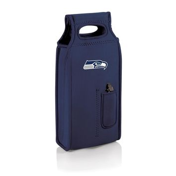 NFL Seattle Seahawks Samba Navy/slate Wine Tote W/corkscrew