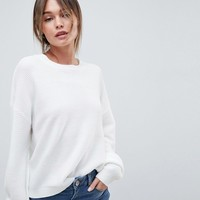 ASOS DESIGN Jumper In Oversize In Ripple Stitch at asos.com