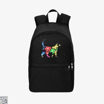 Neon Snowflake Cat, Cat Backpack