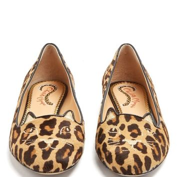 Kitty leopard-print calf-hair flats | Charlotte Olympia | MATCHESFASHION.COM UK