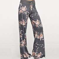 2017 New Women Pant soft Pants Casual Femal Floral loose Drawstring Casual Flare Pants Sweatpants Women's Flexible Sexy Trouser
