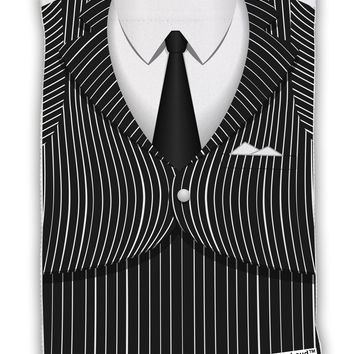 Pinstripe Gangster Jacket Printed Costume Micro Terry Sport Towel 11 X 18 inches All Over Print