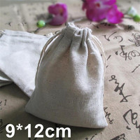 Mini Jute Drawstring Gift Bag Incense Storage Cosmetic Jewel Accessories Sachet Packing Linen Bags 9*12cm