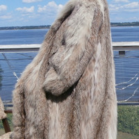 Russian Lynx Fur Coat Natural Italian Vani Lining New York Sz Xl 2 Xl Pristine Plush (Vani New York)