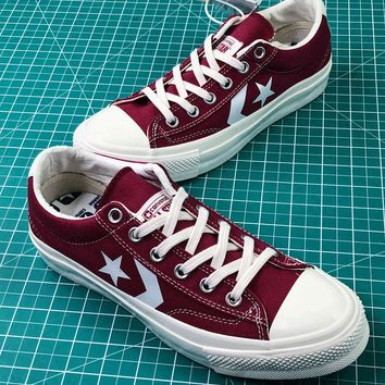 Converse Canvas Chevronstar Ox Red Low Canvas Shoes - Best Online Sale