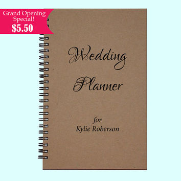 Wedding Planner for Kylie Roberson - Journal, Book, Custom Journal, Sketchbook, Scrapbook, Extra-Heavyweight Covers