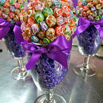 Dum Dum Lollipop Sucker Candy Land Centerpiece Vase, Candy Buffet Decor, Candy Arrangement Wedding, Mitzvah, Party Favor, Candy Creation