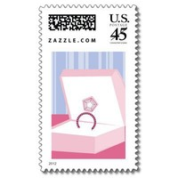 Engagement Ring Postage Stamp from Zazzle.com