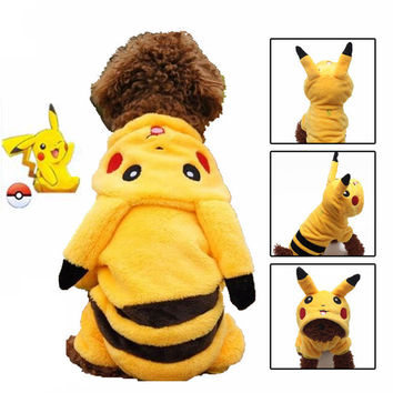 Pet Dog Clothes for Dogs Cats Costume Puppy Hoodies Coat Jacket Jumpsuit Pikachu Chihuahua Small Clothes Pokemon Go Apparel 30
