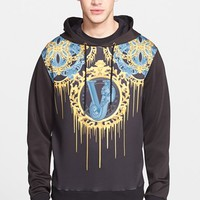Men's Versace Jeans 'Drip' Neoprene Graphic Hoodie,