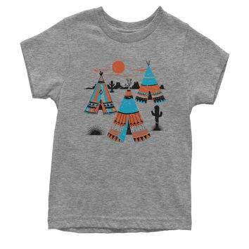 Native American Teepee Tipi Southwest Youth T-shirt